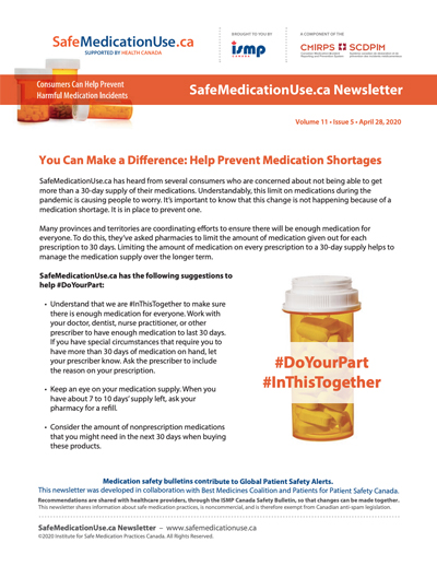 Medication Shortages