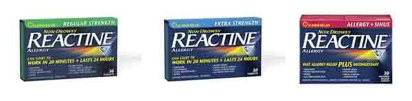 Reactine Products